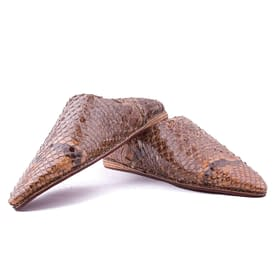Serpent patterns Leather Slippers