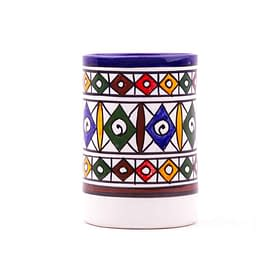 verre en céramique poterie marocaine