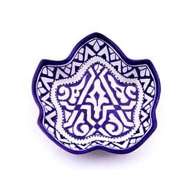 Petit plat en poterie Marocain, céramique en forme de feuille