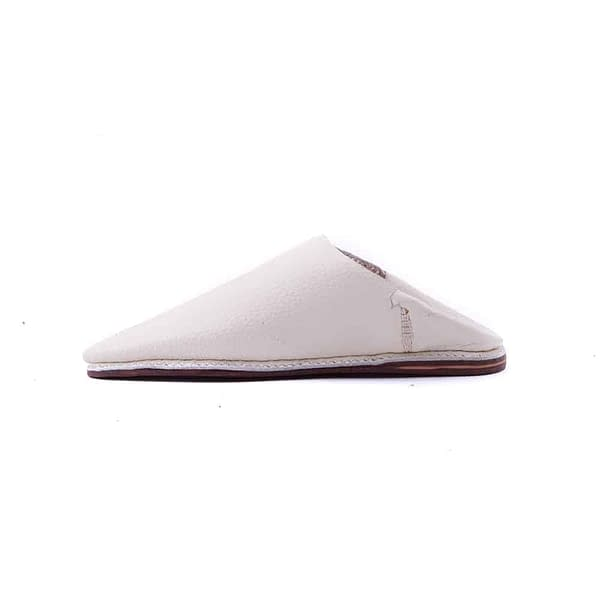 Boys Slipper White Leather