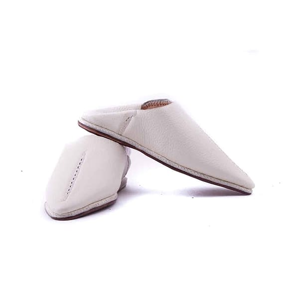 Boys Slippers White Leather