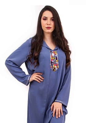 Djellaba bleue pour femme